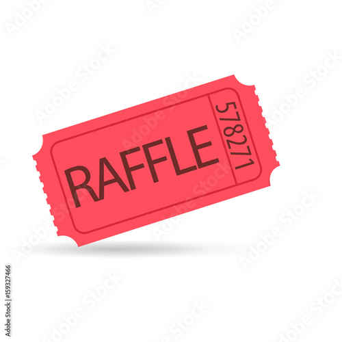Cuadros en Lienzo red raffle ticket.