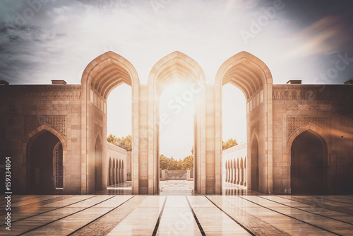 Canvas Prints Middle East Inspirational image of stone arched entry way