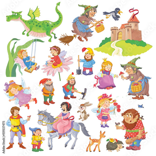 Big collection of fairy tale characters. Fairy tale ...