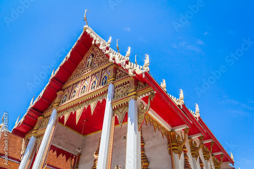 Deurstickers Bedehuis Beautiful Temple At Wat Lat Prakong Tham ,Nonthaburi in Thailand