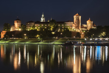 Fototapeta Panorama Miasta Wawel Royal castle in Krakow, Poland