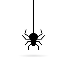Hanging Spider Vector Icon