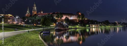 plakat Panorama of Wawel Royal castle in Krakow, Poland