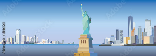 Fototapeta New York-city silhouette obraz