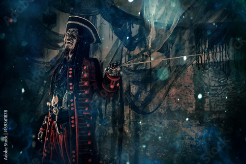 Canvas Print zombie pirate halloween