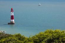 Beachy Head Lighthouse In East...