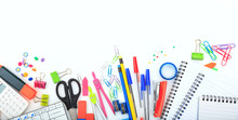 Office - School Supplies On Wh...