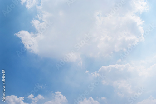 Aluminium Prints Heaven Blue sky and white clouds on a beautiful day,