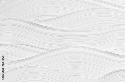 Fotomural White wave plaster texture. Light modern abstract background.