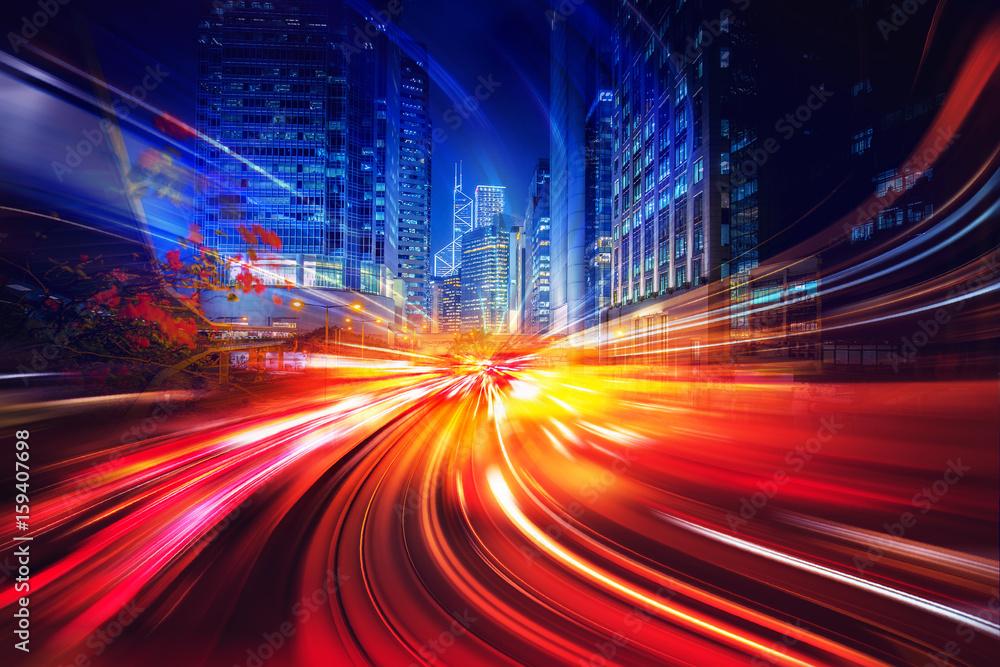 Fototapeta Abstract motion speed lighting background