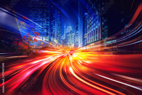 Zdjęcie XXL Abstrakcjonistyczny ruch prędkości oświetleniowy tło