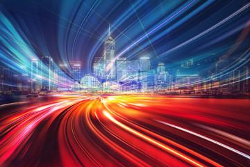 Abstrakcjonistycznego ruch prędkości oświetleniowy tło