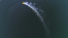 Aerial View Off Racing Boats O...
