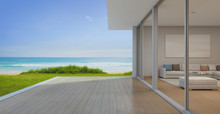Sea View Living Room With Empt...