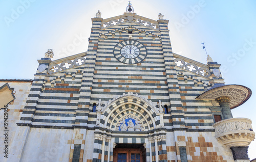 Fotografie, Obraz  Facade of Prato Cathedral, Tuscany, Italy - dedicated to Saint Stephen, first Christian martyr