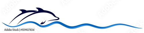 Photo Logo of dolphins.