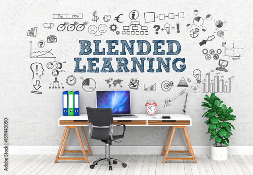 Blended Learning  / Office / Wall / Symbol Wallpaper Mural