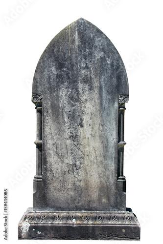 Blank gravestone isolated on white ready for inscription Fototapete