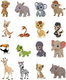 Fototapeta Fototapety na ścianę do pokoju dziecięcego - Funny kids animals