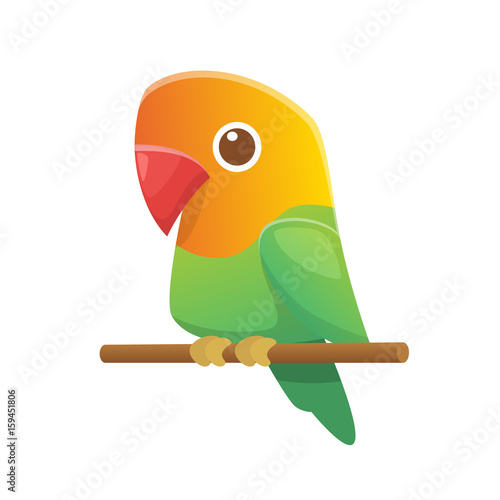 Vektor Gambar Lovebird Animasi