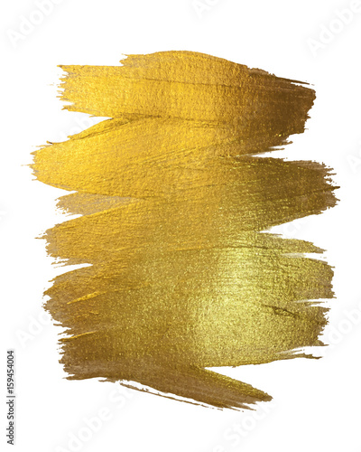 Gold Texture Paint Stain Illustration Canvas Print