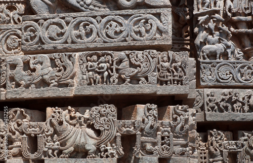 Great Indian architecture background on traditional style