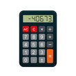 Calculator, realistic vector illustration isolated on white.