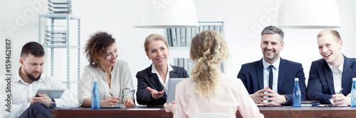 Fotografía  Woman during job interview