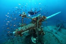 Ship Wreck In Tropical Sea ,ca...