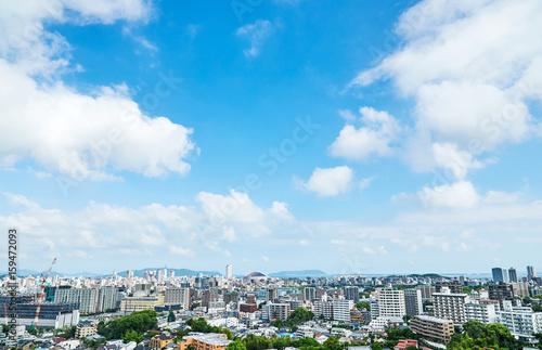 Fototapete - 都市風景 福岡