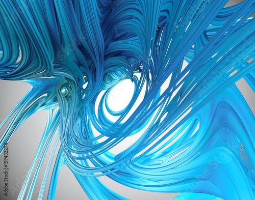 Valokuva  3D Fractal Involute Gel - 3D Rendering Fractal Image