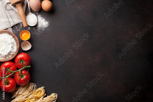 Poster Cuisine Pasta cooking ingredients