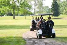 Golf Carts On Path