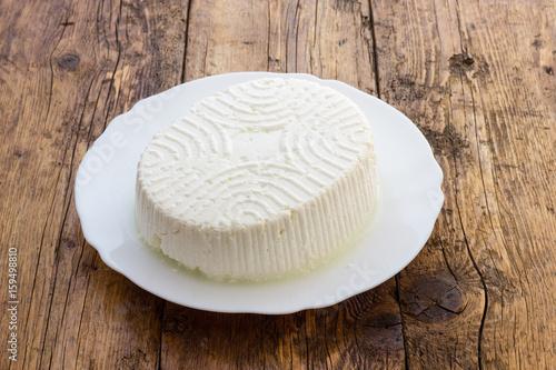 Plakat Smakowity świeży krowy ricotta ser