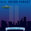 Patriot day poster. September 11. Vector