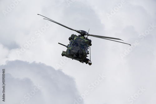 Foto op Canvas Helicopter Modern tactical helicopter flying towards the camera.