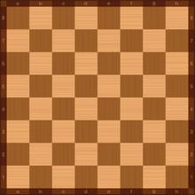 Chessboard, Top View, Wooden T...