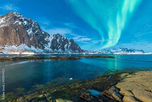 Keuken foto achterwand Noorderlicht colorful northern lights