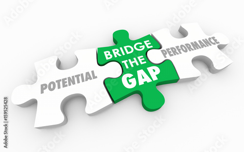 Fotografie, Obraz  Bridge the Gap Between Potential and Performance Puzzle 3d Illustration