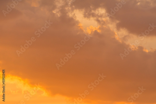 Fototapety, obrazy: golden sky at the sunrise for background