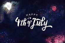 Happy 4th Of July Typography W...