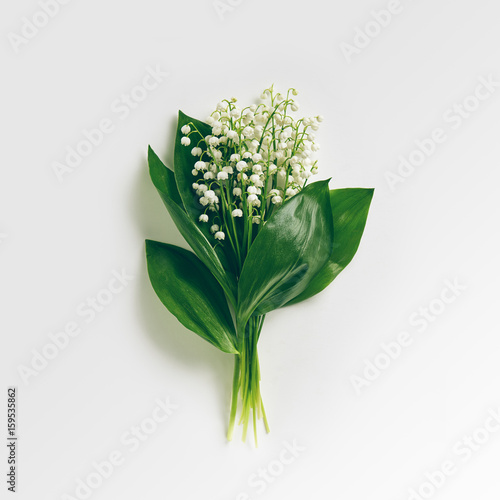 Foto auf AluDibond Maiglöckchen Bouquet Lily Of The Valley