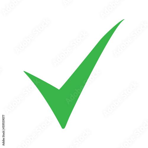 Green Check Mark Icon Tick Symbol In Green Color Vector