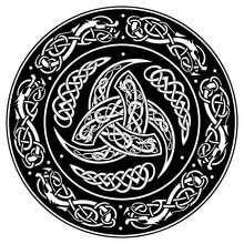 Celtic Shield, Decorated With ...