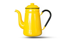 Kettles Yellow Isolated White ...