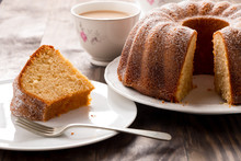 Sponge Cake With Coffee With M...