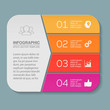 Vector infographic template, 4 options.
