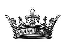 Vector Crown Hand Drawn