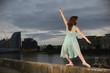 Ballet dancer on wall