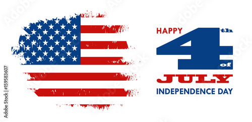 Happy 4th of july independence day of united states of america happy 4th of july independence day of united states of america greeting card design vector m4hsunfo